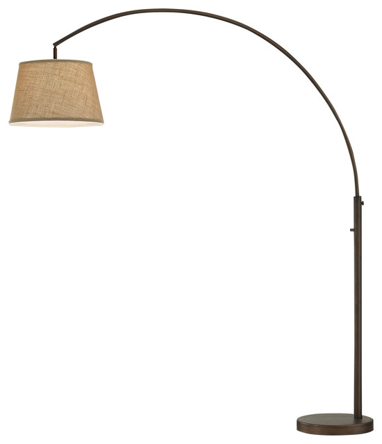 Artiva USA Allegra LED Arch Floor Lamp With Dimmer, Antique Bronze