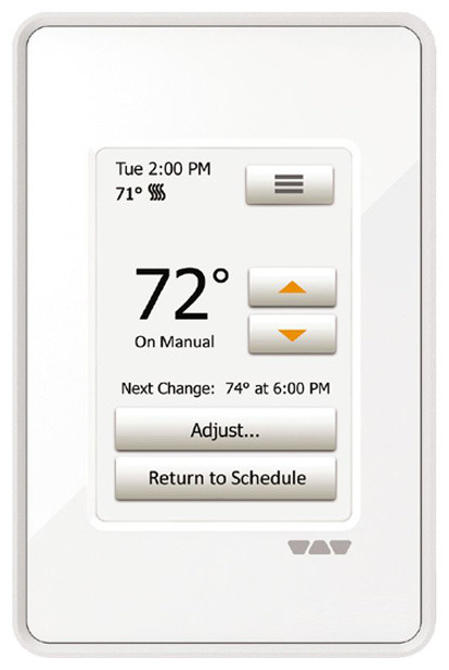 Ditra-Heat Touch Screen Programmable Thermostat 120v/240v.