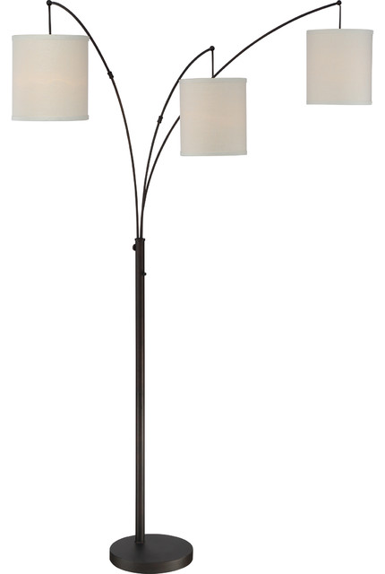 Belle Fleur 3-Light Floor Lamps, Vintage Bronze