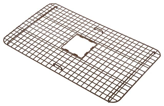 """Rohe 29"""" Copper Kitchen Sink Bottom Grid, Antique Brown"""
