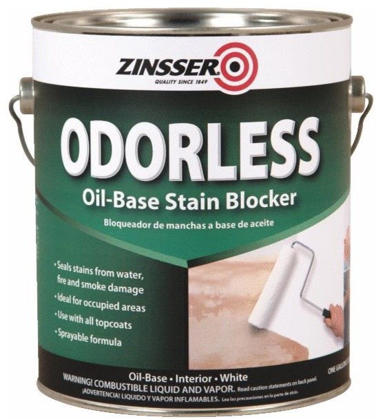 zinsser odorless interior stain blocker stains and varnishes by hipp modern builders supply. Black Bedroom Furniture Sets. Home Design Ideas