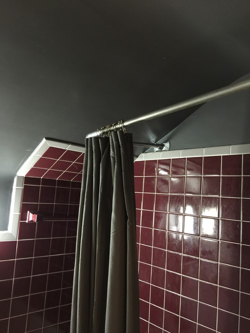 Shower Rod On Sloped Ceiling
