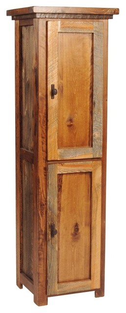 Rustic Wood Linen Closet - Contemporary - Bathroom Cabinets And Shelves - by ShopLadder