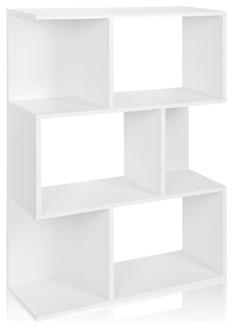 Madison Bookcase Storage Bookshelf Tool Free Assembly Eco ZBoard White