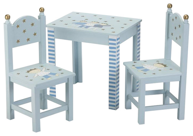 Awesome Petite Prince Hand Painted Kids Table And Chair Set Traditional Kids  Tables And