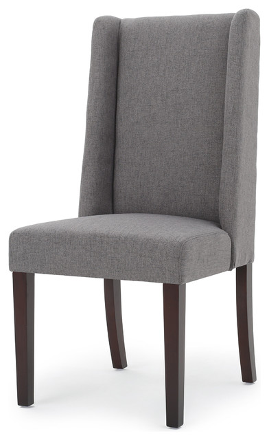cline elegant high back modern dining chairs oxford gray set of 2