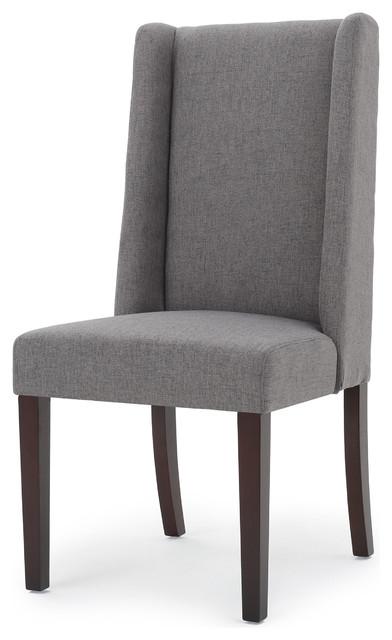 Merveilleux Cline Elegant High Back Modern Dining Chairs, Oxford Gray, Set Of 2