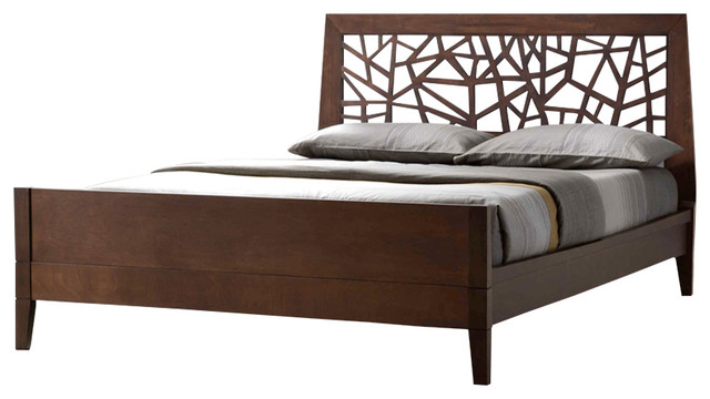 jennifer tree branch wood bed frame cocoa king contemporary platform beds
