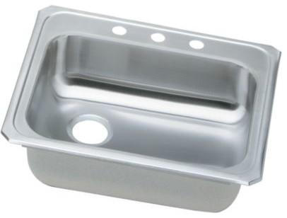 Elkay Gecr2521l4, Celebrity Top Mount Single Bowl Kitchen Sink ...
