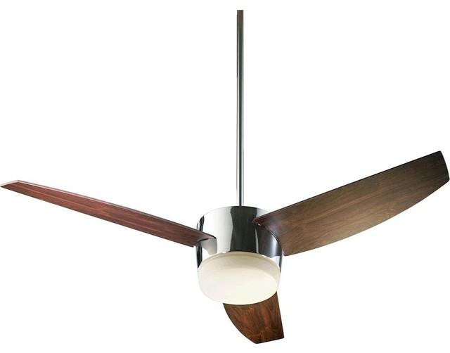 Quorum Trimark 2-Light Ceiling Fan, Chrome.