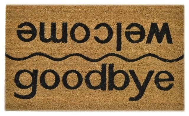 Image result for welcome goodbye doormat