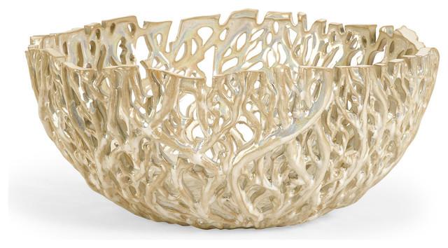 Contemporary Decorative Bowls Amazing Vargas Cutwork Decor Bowl  Contemporary  Decorative Bowls Decorating Inspiration