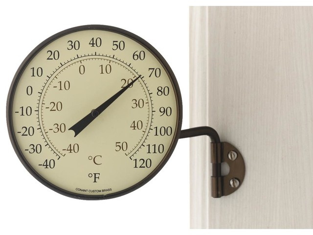 conant dial indoor and outdoor thermometer decorative thermometers houzz. Black Bedroom Furniture Sets. Home Design Ideas