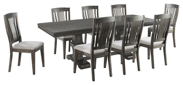 Steele 9-Piece Dining Set, Table and 8 Wooden Chairs by Picket House