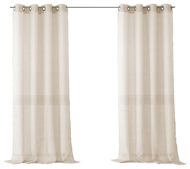 Bali Sheer Indoor Outdoor Curtains Contemporary Curtains By