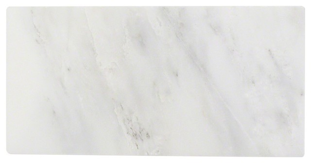 "Oriental Marble Subway Tile, White, 3""x6"""