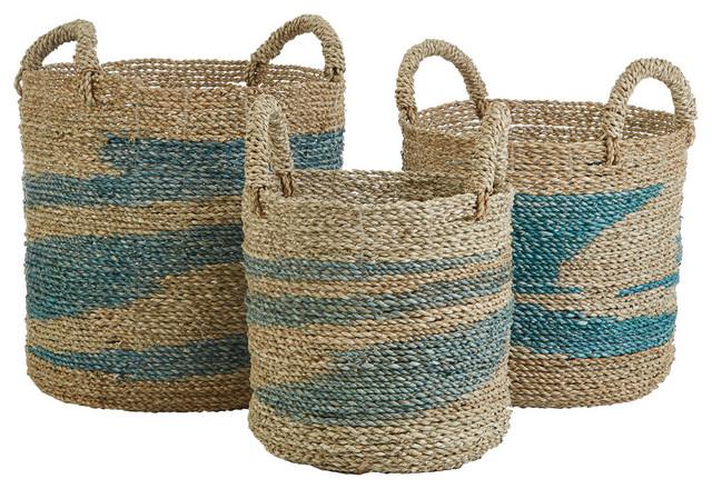Seagrass Storage Baskets, Set Of 3