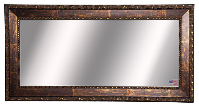 American Made Rayne Roman Copper Bronze Double Vanity Wall Mirror Traditional Bathroom