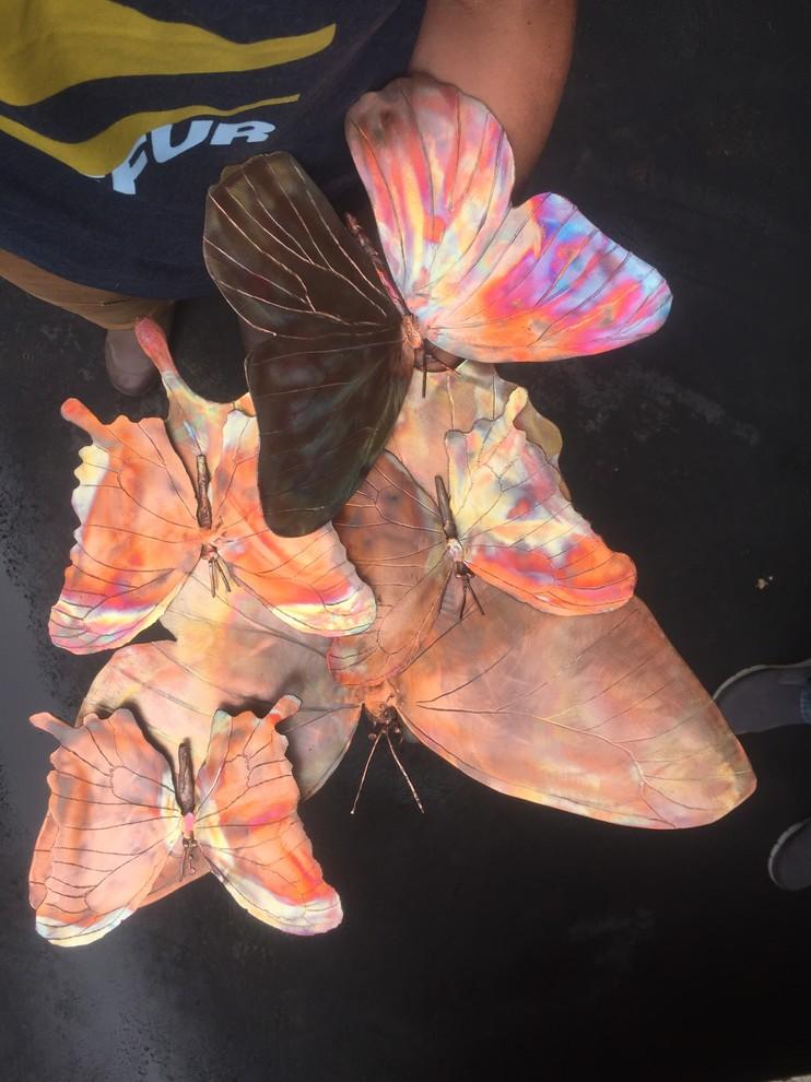 Butterflies Wall Art- copper fabrication by Pierre Riche Art