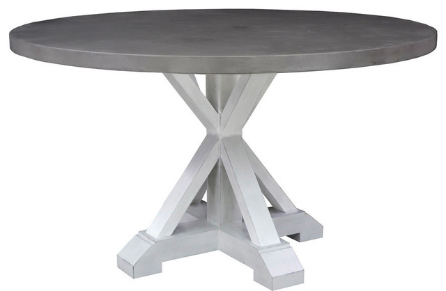Chester Round Dining Table Gray Dining Tables By Montage Home - Round pedestal dining table gray