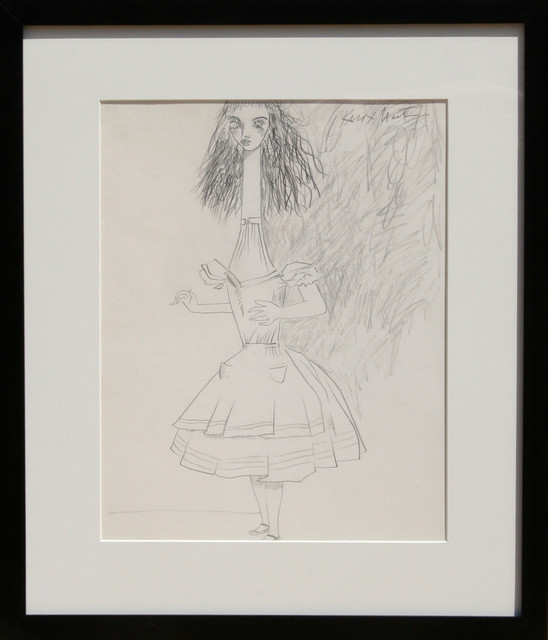 Knox Martin Alice In Wonderland Pencil Drawing View
