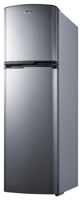 Summit 8.8 Cu.ft. Frost-Free Refrigerator-Freezer Adjustable Glass Shelves.