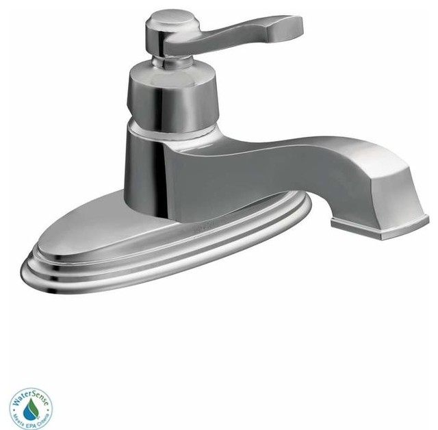 Moen Traditional Bathroom Faucet: Moen Rothbury Single Handle Single Hole Bathroom