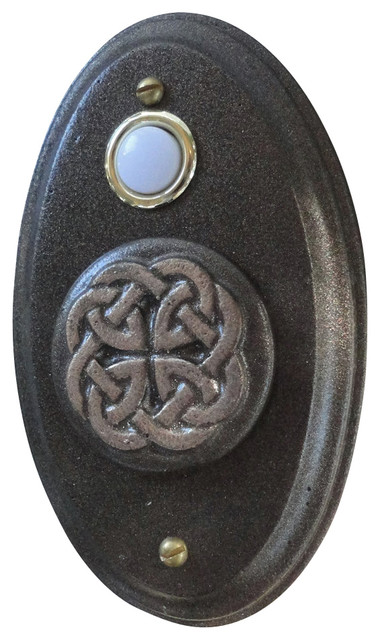 Celtic Wired Doorbell Oil Rubbed Bronze Traditional