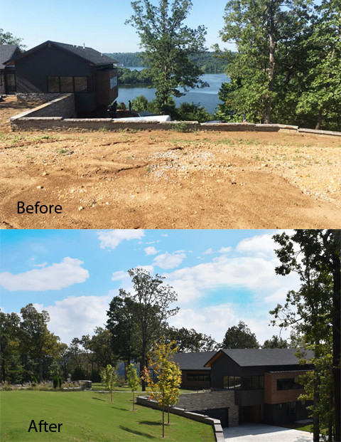 Beaver Lake House #3 Before and After