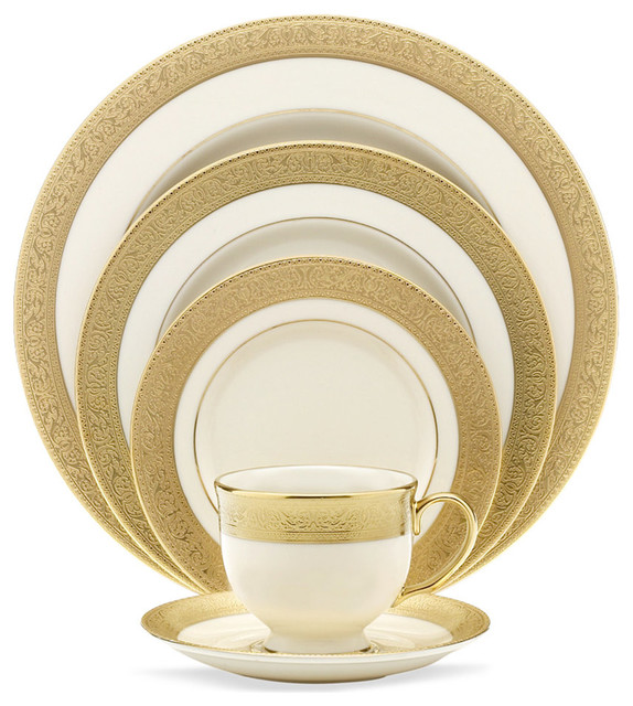 Lenox Westchester 5 Piece China Setting Set Of 12 Traditional Dinnerware Sets By Unique Gifts