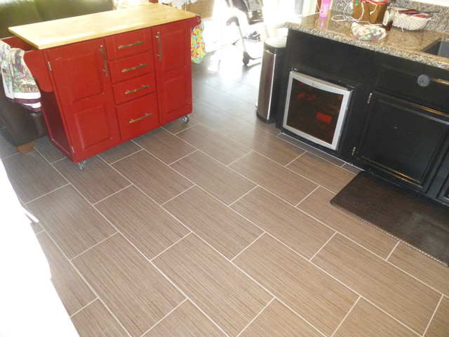 12 X 24 Porcelain Tile Flooring Running Bond Pattern Modern