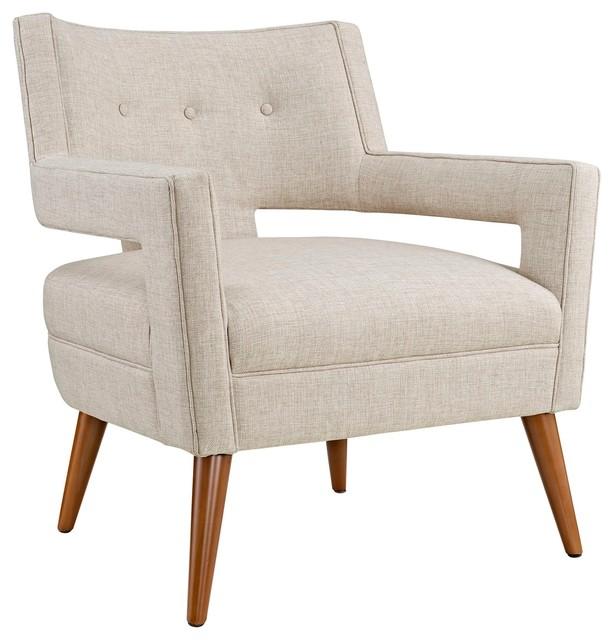 Modern Contemporary Urban Design Living Lounge Room Armchair, Beige, Fabric