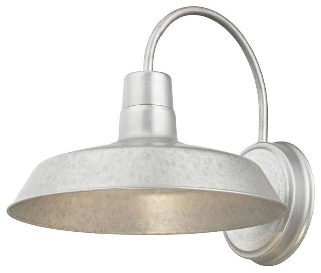 Barn Light Galvanized 12 By Design Clics Lighting Farmhouse Outdoor Wall Lights And Sconces Destination