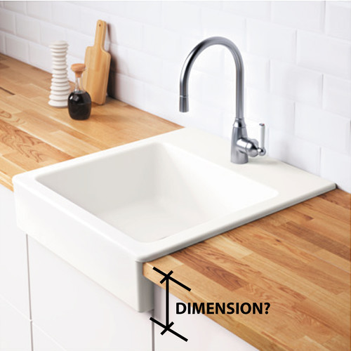 Charmant IKEA DOMSJO Sink   Apron Front Dimension?