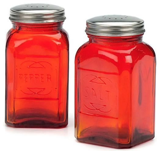 Blue RSVP Retro Salt /& Pepper Shakers
