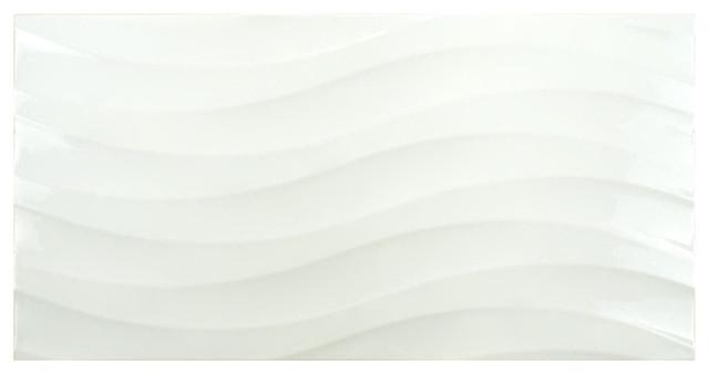 """Contemporary Wall Tile 12.38""""x24.88"""" amandole brillo ceramic wall tiles - contemporary"""