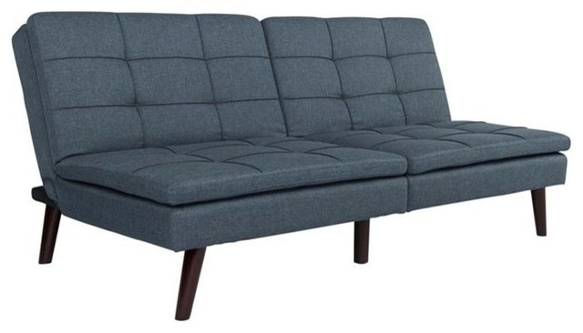 Westbury linen pillowtop convertible sofa blue contemporary futons by homesquare - Bank cabriolet linnen ...