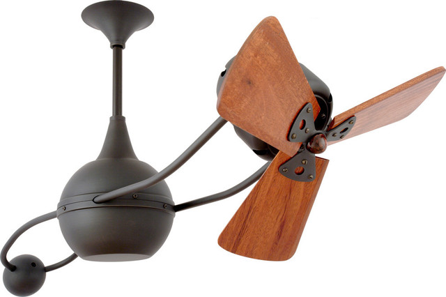 Brisa 2000 Rotational Ceiling Fan With Mahogany Blades, Bronze Finish.