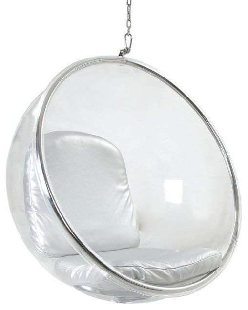 Acrylic Bubble Chair Silver by Imtinanz