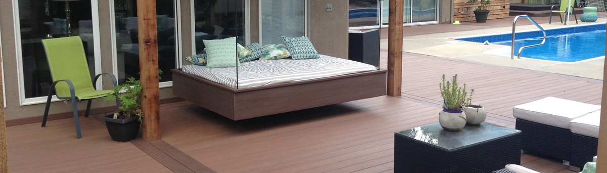 Cozy deck for Creative home designs llc