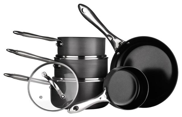 Tenzo H Series 5 Piece Ceramic Coated Aluminum Cookware Set.