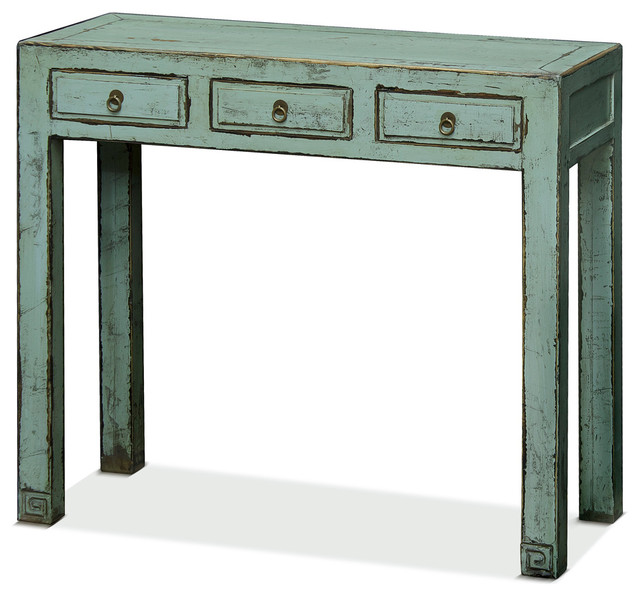 how to fix kitchen faucet ming style console table distressed light blue asian 24244