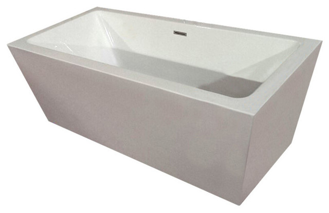 "Acrylic Tub, White, 67""."