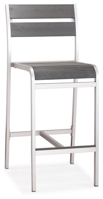Megapolis Bar Chair Brushed Aluminum Set of 2 contemporary-outdoor-bar- stools  sc 1 st  Houzz & Megapolis Bar Chair Brushed Aluminum Set of 2 - Contemporary ... islam-shia.org