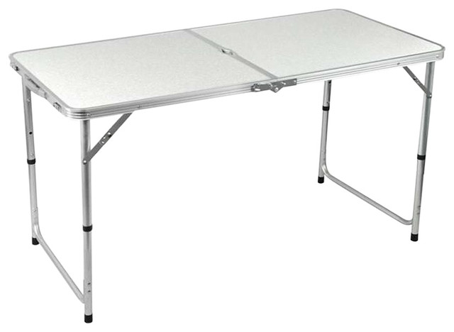Folding With Steel Metal Frame and Plastic Top, Simple Contemporary Design