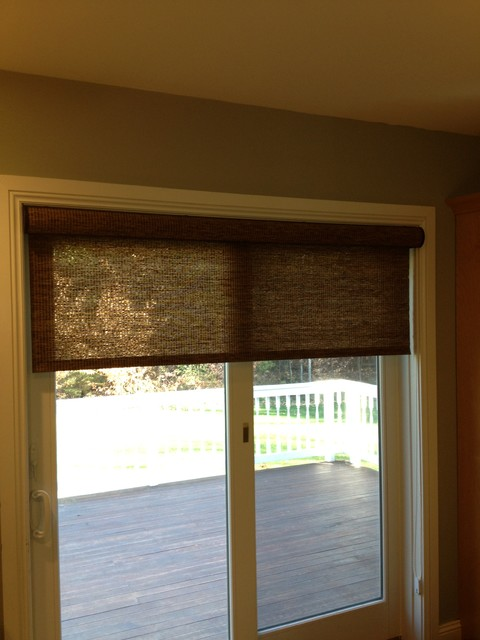 Lovely Patio Door Shade Traditional
