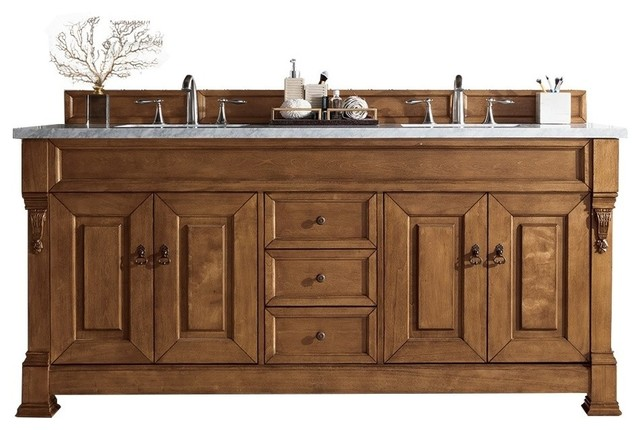 "Wentworth Double Bathroom Vanity, No Top, 72""."