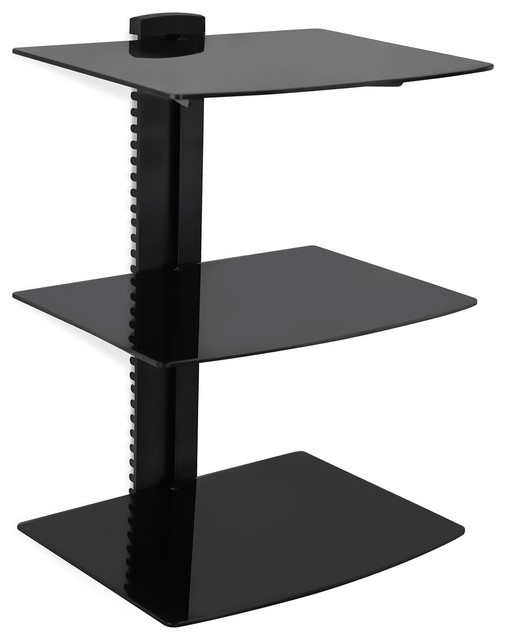 floating wall mounted shelf bracket stand contemporary. Black Bedroom Furniture Sets. Home Design Ideas