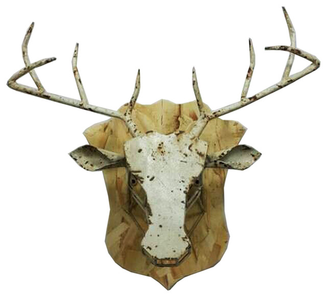 Decor Foter Sagebrook Home Animal Head Off White Large Wall Sculptures Houzz