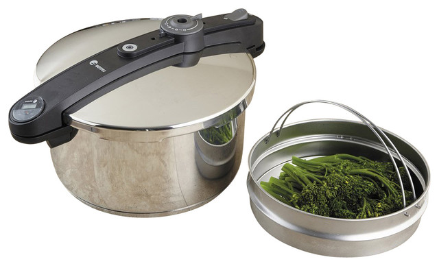Chef Stainless Steel Pressure Cooker Set, 6 Qt..
